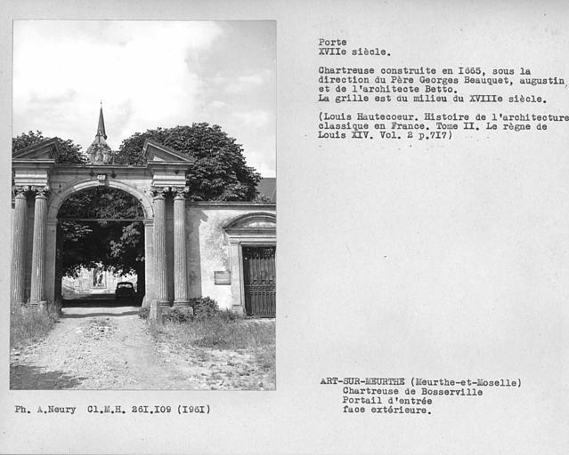 photo pour Chartreuse de Bosserville