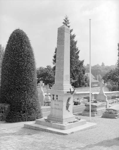 photo pour monument aux morts de la guerre de 1870, de la guerre de 1914-1918 et de la guerre de 1939-1945
