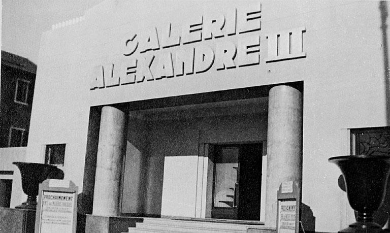 photo pour galerie d'art dite Galerie Alexandre III, puis cinéma Alexandre III