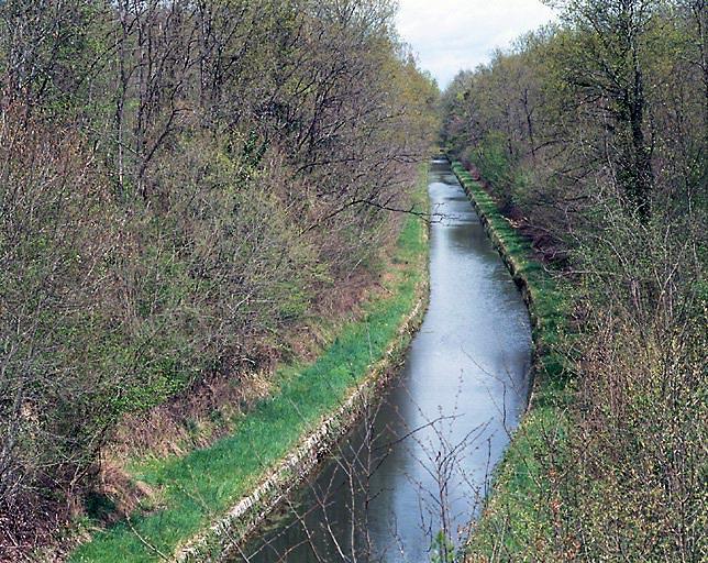 photo pour bief dit tranchée d'Augy (canal de Berry)